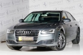 Audi A8 2014 г. (серый)