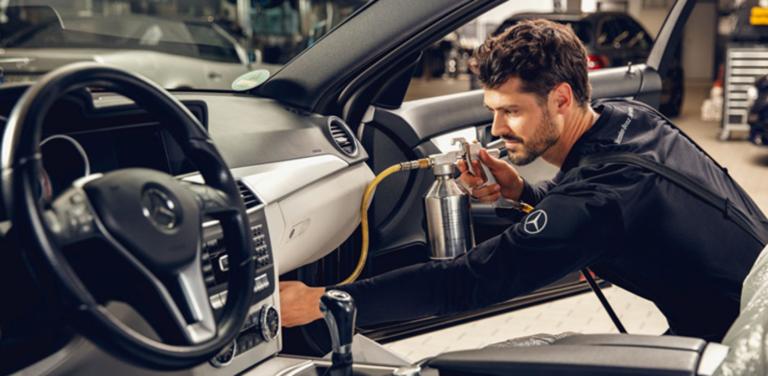 Антибактериальная обработка системы кондиционирования Вашего Mercedes-Benz от 1 800 р.