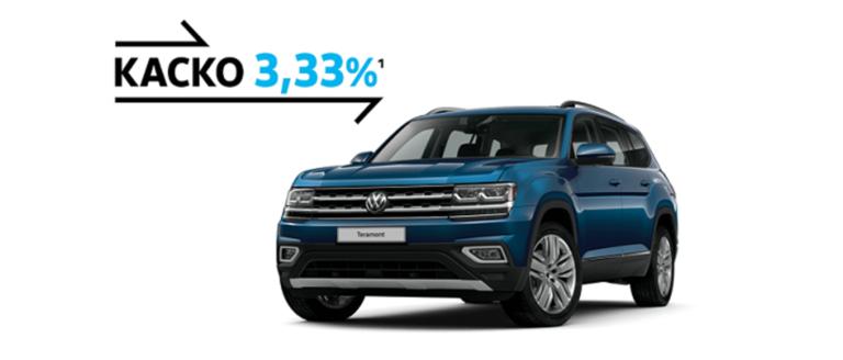 КАСКО — 3,33% для Volkswagen Teramont.